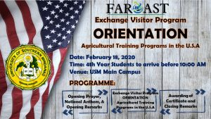 Exchange Visitor Program Orientation @ USM Main Campus