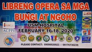 Libreng Opera sa mga Bungi at Ngoho @ USM Hospital