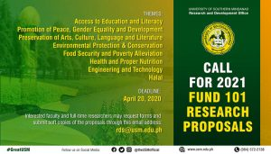 Call for 2021 Fund 101 Research Proposals @ USM Research and Development Office