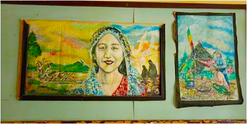Sample of the exhibit of paintings by USM student and staff-artists